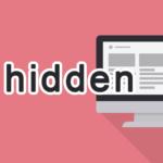 hiddenの読み方