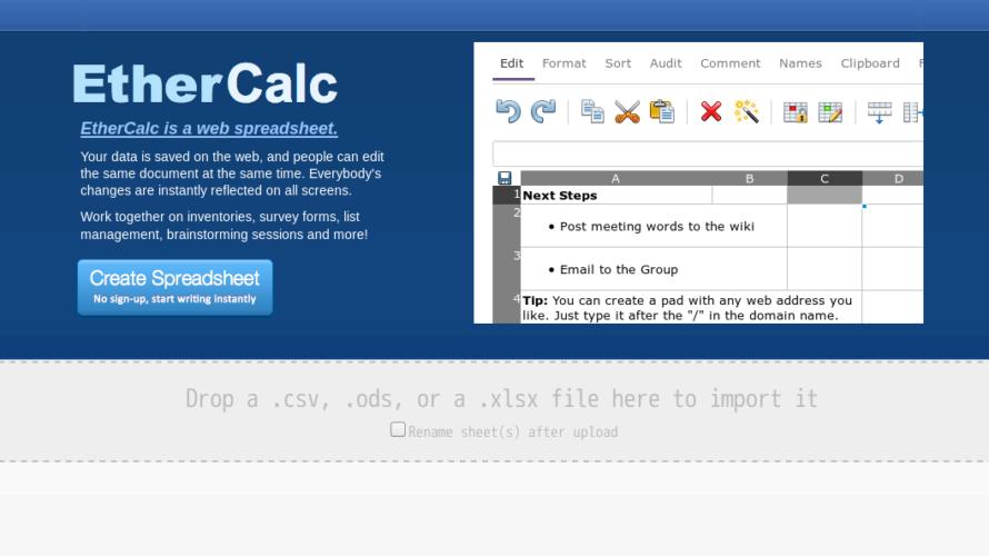 EtherCalcの読み方