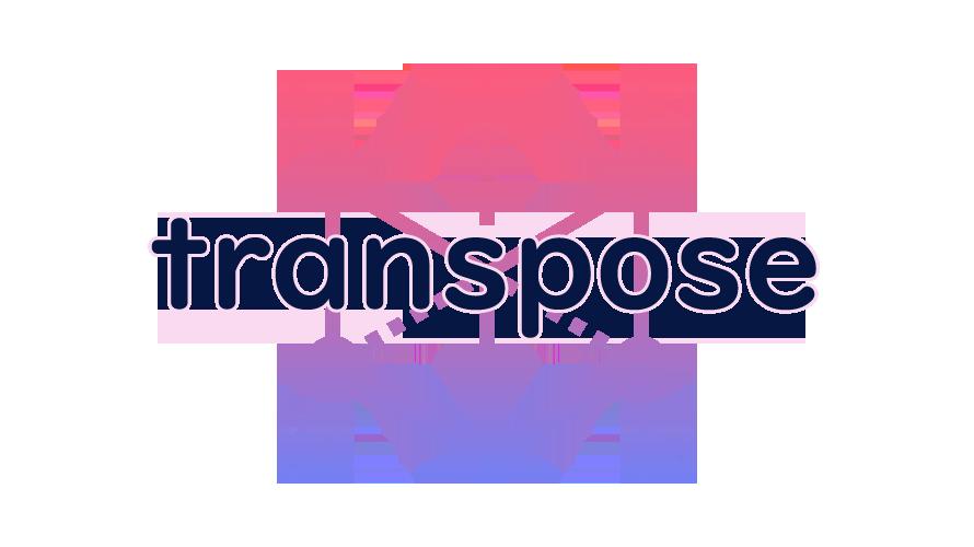 transposeの読み方